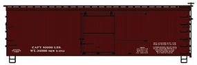 Accurail 36' Double Sheathed Wood Boxcar w/Steel Roof, Ends, Straight Underframe Data Only (Mineral Red)
