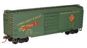 Accurail 40 PS-1 Steel Boxcar - Kit - Toledo, Peoria & Western HO Scale Model Train Freight Car #15931