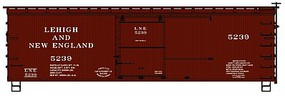 Accurail 36 Double Sheathed Wood Boxcar w/Steel Roof, Wood Ends, Straight Underframe Lehigh & New England
