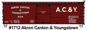 Accurail HO AC&Y WOOD BOXCAR
