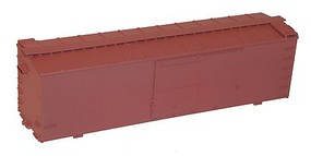 Accurail 36 Double Sheathed Wood Boxcar w/Steel Roof, Wood Ends, Straight Underframe Undecorated
