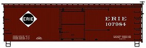 Accurail Ho 36'Dbl Sht Wood Boxcar Erie