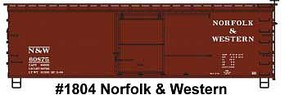 Accurail HO Norfolk & Western 36 Dbl Sheath Wood Boxcar w/Wood Ends