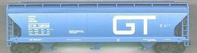Accurail 47 3-Bay Covered Hopper Grand Trunk Western HO Scale Model Train Freight Car #2014