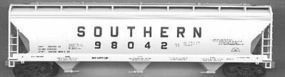 Accurail 47 3-Bay Center Flow Covered Hopper Kit Southern HO Scale Model Train Freight Car #2025