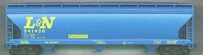 Accurail 47 3-Bay Covered Hopper Louisville & Nashville HO Scale Model Train Freight Car #2026