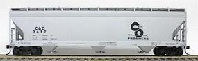 Accurail 47 3-Bay Center Flow Covered Hopper Chesapeake & Ohio HO Scale Model Train Freight Car #2040