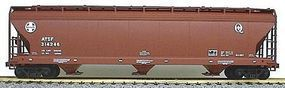 Accurail 47 3-Bay Center Flow Covered Hopper Kit Santa Fe HO Scale Model Train Freight Car #2047