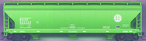 Accurail 47 3-Bay Covered Hopper Burlington Northern Santa Fe HO Scale Model Train Freight Car #2048
