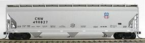 Accurail 47 3-Bay Covered Hopper Union Pacific/Chicago & NW HO Scale Model Train Freight Car #2050