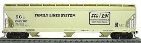Accurail 47 3-Bay Center Flow Covered Hopper Kit Family Lines HO Scale Model Train Freight Car #2052