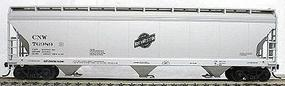 Accurail 47 3-Bay Center Flow Covered Hopper Kit Chicago & NW HO Scale Model Train Freight Car #2061