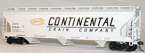 47' 3-Bay Center Flow Covered Hopper Continental Grain HO Scale Model Train Freight Car #2084