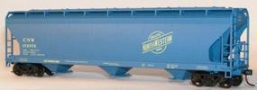 Accurail 47 3-Bay Center Flow Covered Hopper Chicago & NW HO Scale Model Train Freight Car #2085