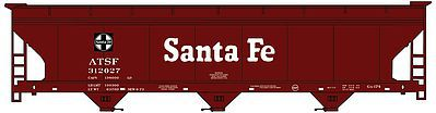 Accurail ACF 47' 3-Bay Center-Flow Covered Hopper Kit Santa Fe -- HO Scale Model Train Freight Car -- #2105