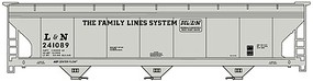 Accurail 3-Bay ACF Hopper Kit Louisville & Nashville HO Scale Model Train Freight Car #2107