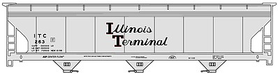 Accurail ACF 47' 3-Bay Center-Flow Covered Hopper - Kit -- Illinois Terminal #263 (gray, black, Script Lettering)