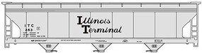 Accurail ACF 47 3-Bay Center-Flow Covered Hopper - Kit Illinois Terminal #263 (gray, black, Script Lettering)
