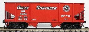 Accurail 55-Ton 2-Bay Hopper Kit Great Northern (bright red) HO Scale Model Train Freight Car #2302