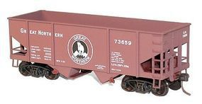 Accurail 55-Ton 2-Bay Hopper 3-Pack Kit Great Northern HO Scale Model Train Freight Car #2354