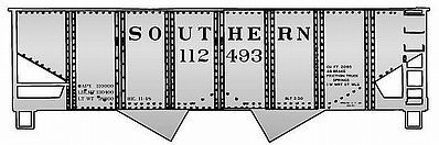 Accurail USRA Aluminum Hopper 3-Pack Kit Southern Railway HO Scale Model Train Freight Car #25724