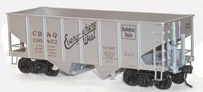 Accurail 2-Bay 55-Ton Open Hopper Kit C,B&Q #190852 HO Scale Model Train Freight Car #2574