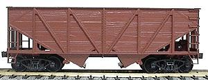 Accurail Undecorated 55-Ton Woodside Twin Hopper -- HO Scale Model Train Freight Car -- #2700