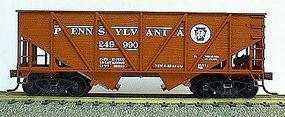 Accurail 55-Ton Wood Side Twin Hopper - Pennsylvania Railroad HO Scale Model Train Freight Car #2702