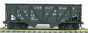 Accurail 55-Ton Wood Side Twin Hopper - Chesapeake & Ohio HO Scale Model Train Freight Car #2704