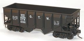 Accurail 55-Ton Panel-Side Two-Bay Hopper Grand Trunk Western HO Scale Model Train Freight Car #28071