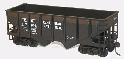 Accurail 55-Ton Panel-Side Two-Bay Hopper Kit Canadian National -- HO Scale Model Train Freight Car -- #28111