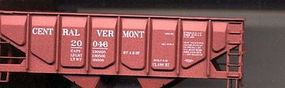 Accurail 55-Ton Panel-Side Twin Hopper Central Vermont #20153 HO Scale Model Train Freight Car #28121