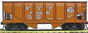 Accurail Panel Sided Twin Hopper Assortment pkg(12) New York Central (Oxide, white graphics)