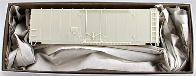 Accurail 40' Plug-Door Boxcar Kit Undecorated -- HO Scale Model Train Freight Car -- #3100
