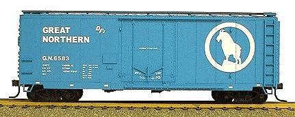 Accurail 40 AAR Plug Door Box Car Kit - Great Northern HO Scale Model Train Freight Car #3109