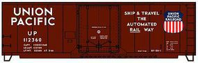 Plug Door 40' Steel Boxcar Union Pacific HO Scale Model Train Freight Car Kit #3128