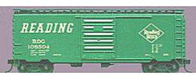 Accurail 40 PS-1 Steel Boxcar - Kit (Plastic) - Reading (green) HO Scale Model Train Freight Car #3404