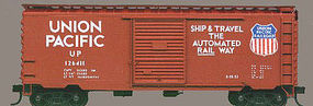 Accurail 40 PS-1 Steel Boxcar - Kit Union Pacific (Oxide) HO Scale Model Train Freight Car #3412