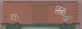 Accurail 40' PS-1 Steel Boxcar Kit (Plastic) Milwaukee Road HO Scale Model Train Freight Car #3425