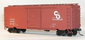Accurail 40 PS-1 Steel Boxcar - Kit Chesapeake and Ohio (oxide) HO Scale Model Train Freight Car #3440