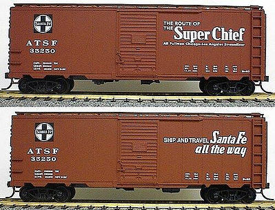 Accurail 40' AAR STEEL BOXCAR ATSF -- HO Scale Model Train Freight Car -- #3501