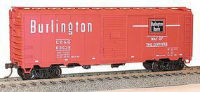 Accurail 40 AAR Steel Boxcar CB&Q HO Scale Model Train Freight Car Kit #35109