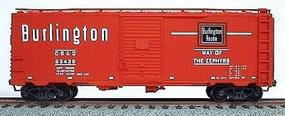 Accurail 40 Single-Door Steel Boxcar Kit C,B,&Q HO Scale Model Train Freight Car #3510