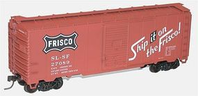 Accurail 40 Single-Door Steel Boxcar - Kit (Plastic) - Frisco HO Scale Model Train Freight Car #3544