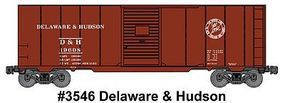 Accurail AAR 40 Single-Door Steel Boxcar Kit Delaware & Hudson HO Scale Model Train Freight Car #3546