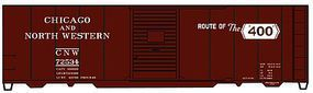 40' Single Door Steel Boxcar Chicago & NW HO Scale Model Train Freight Car Kit #3551