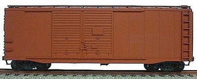 Accurail 40 Double-Door Boxcar - Kit - Undecorated HO Scale Model Train Freight Car #3600