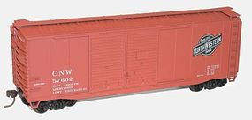 40' Double-Door Boxcar Kit Chicago & North Western HO Scale Model Train Freight Car #36121