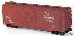 Accurail 40 Double-Door Boxcar Kit Milwaukee Road #16057 HO Scale Model Train Freight Car #36161