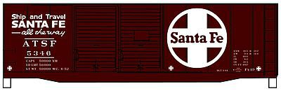 Accurail AAR 40 Double-Door Boxcar - Kit - Santa Fe HO Scale Model Train Freight Car #3635